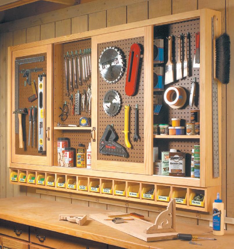 Sliding-Door Shop Cabinet | Woodsmith Shop Tools, Jigs ...