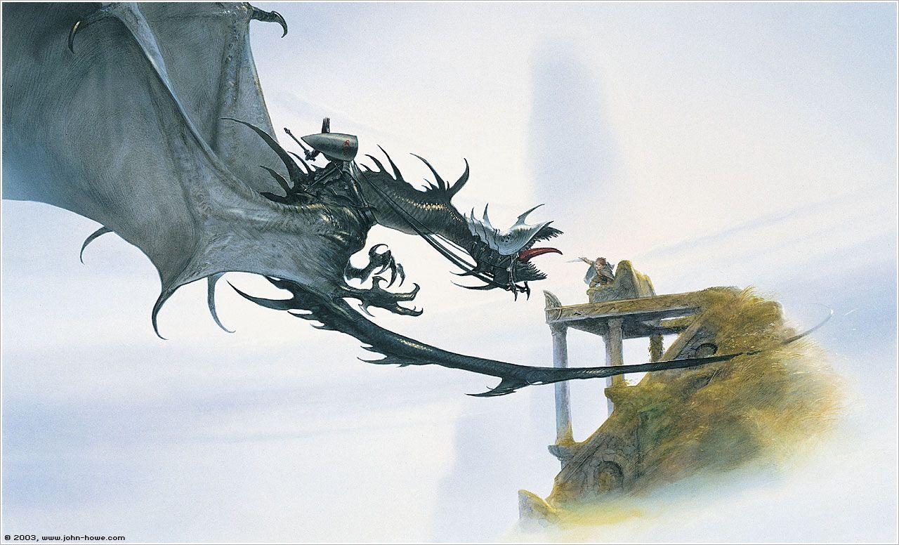 Обои властилин колец, John howe, gandalfs return. Фантастика foto 11