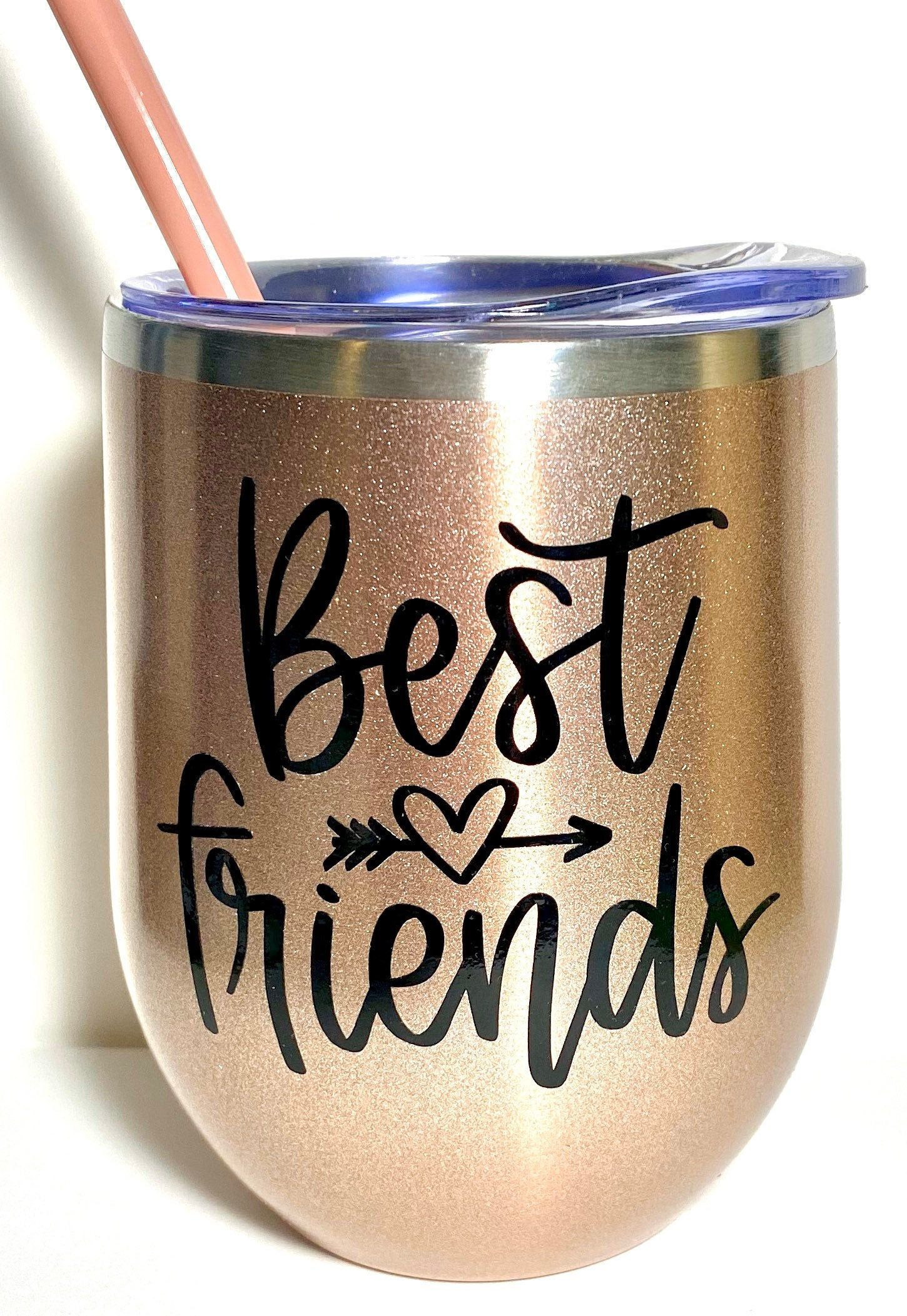 Best friends stainless insulated tumbler friend gift