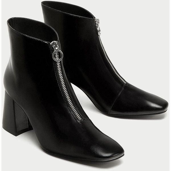 c2046bb9880e CHUNKY HIGH HEEL ANKLE BOOTS WITH ZIP - Ankle Boots-SHOES-WOMAN   ZARA