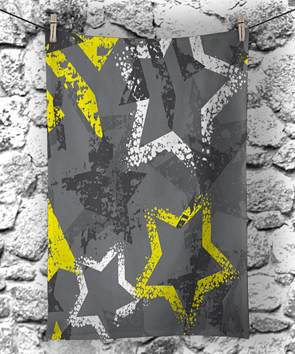 Take a look at this Gray & Yellow Stars Hand Towel today! | Rachel\'s ...