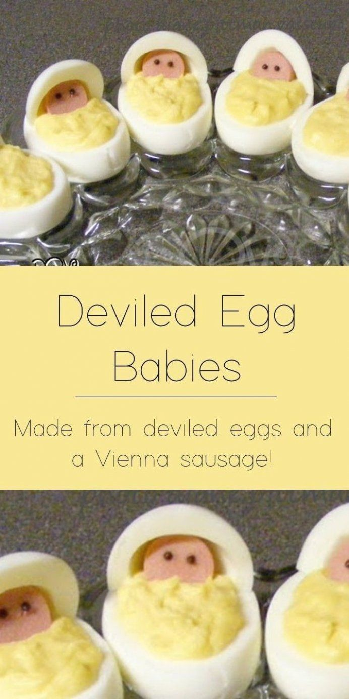 Deviled Eggs Are Made Into The Cutest Babies In A Baby