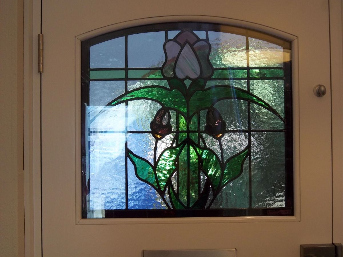 1920 S Stained Glass Door Stained Glass Door Blown Glass Art Stained Glass