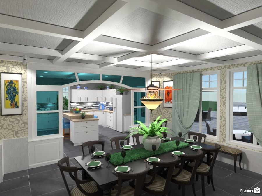 Classic Kitchen And Dining Room Interior Planner 5d
