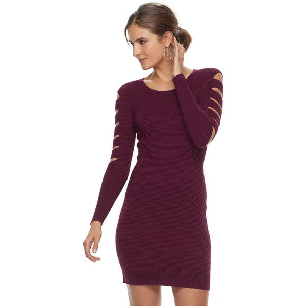 3eefefea01 ... Cutout Sweater Dress ( 52) ❤ liked on Polyvore featuring dresses