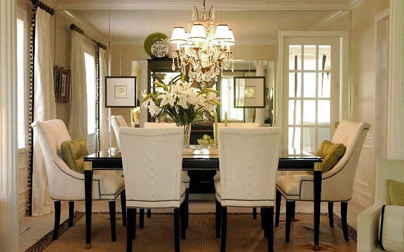 Resultado de imagen para dining room with chandelier hogar - comedores elegantes