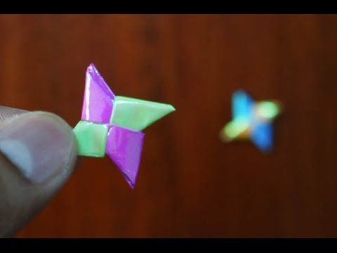 Mini Origami How To Make Mini Ninja Weapon Origami Reuploaded