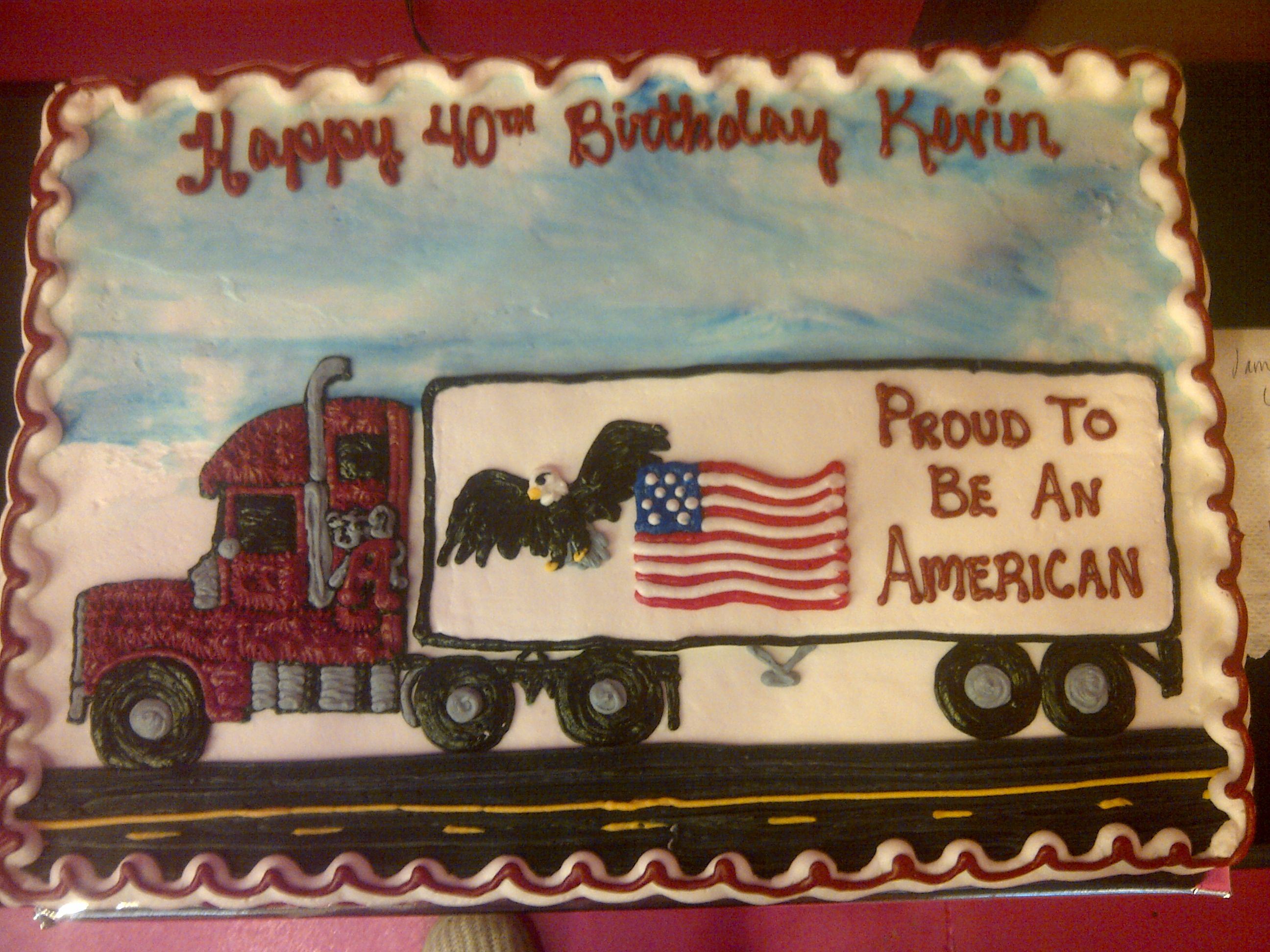 Semi Truck Birthday Cake Cakes For Daddy Truck