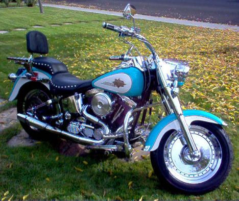 My Favorite Color Scheme Ever Classic Harley Davidson Harley Davidson Fatboy Harley Davidson