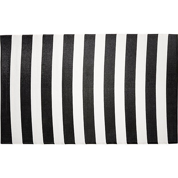 Black And White Outdoor Rug 5x8 Patio Pinterest
