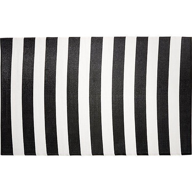 Black And White Outdoor Rug 5u0027x8u0027
