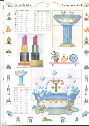 punto croce monocolore bagno - Buscar con Google  Cross-stitch Ladies Things  Pinterest ...