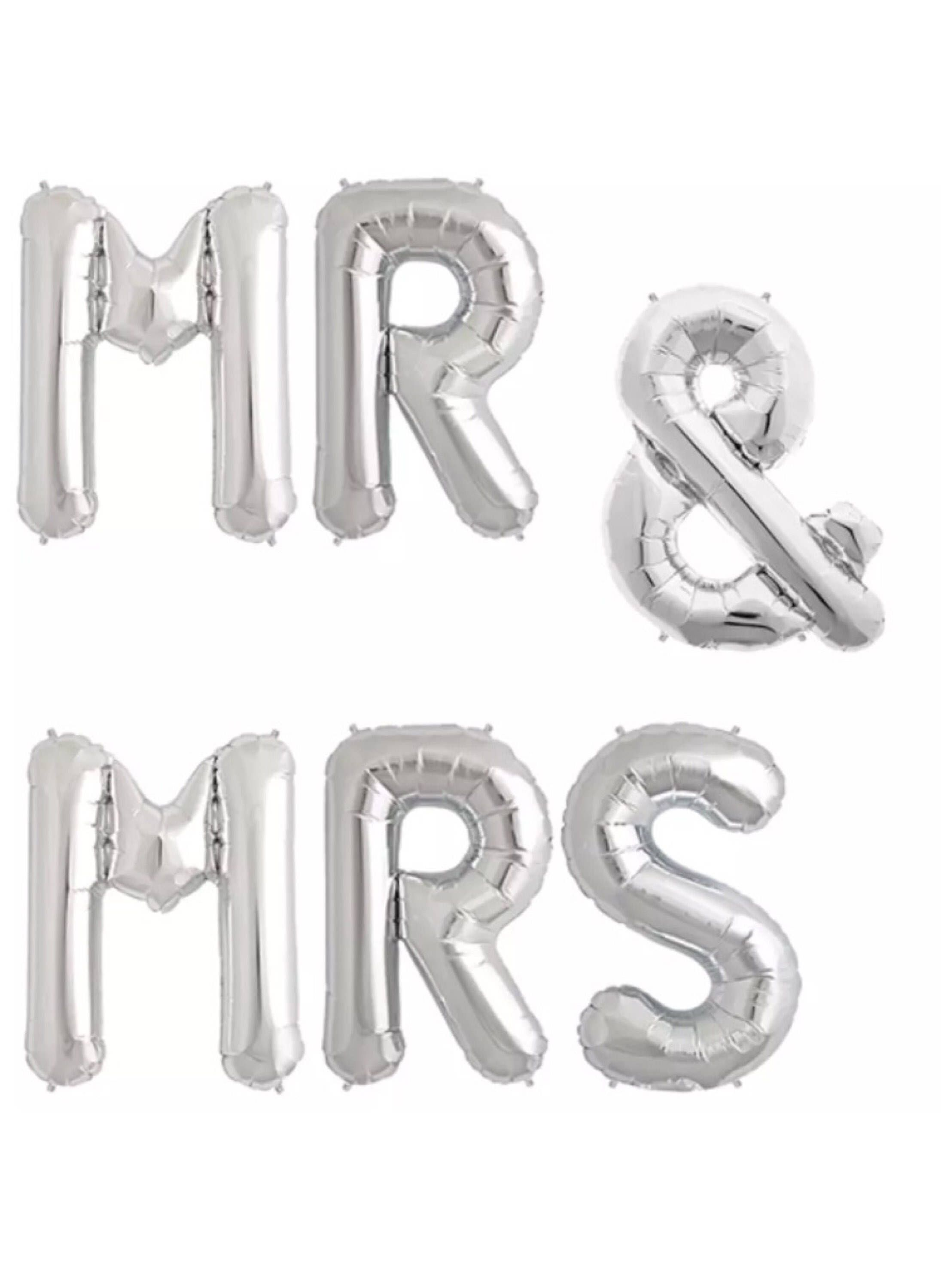 silver 16 foil balloons mr mrs silver letters balloons mylar balloons bridal shower hen party foil balloons letter balloons and balloon pump