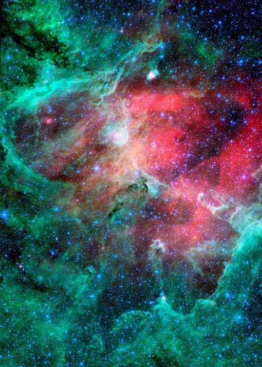 Cosmic Epic Unfolds Eagle Nebula In Infrared Space Photo Art Poster Print Posters Allposters Com In 2021 Space Photography Space And Astronomy Nebula