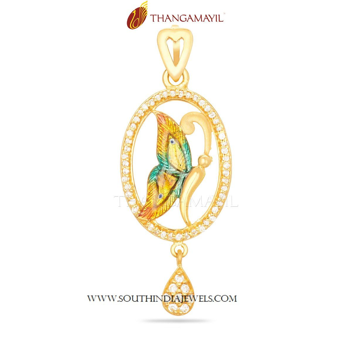 Stylish Gold Butterfly Pendant | Butterfly pendant, Gold pendant ...