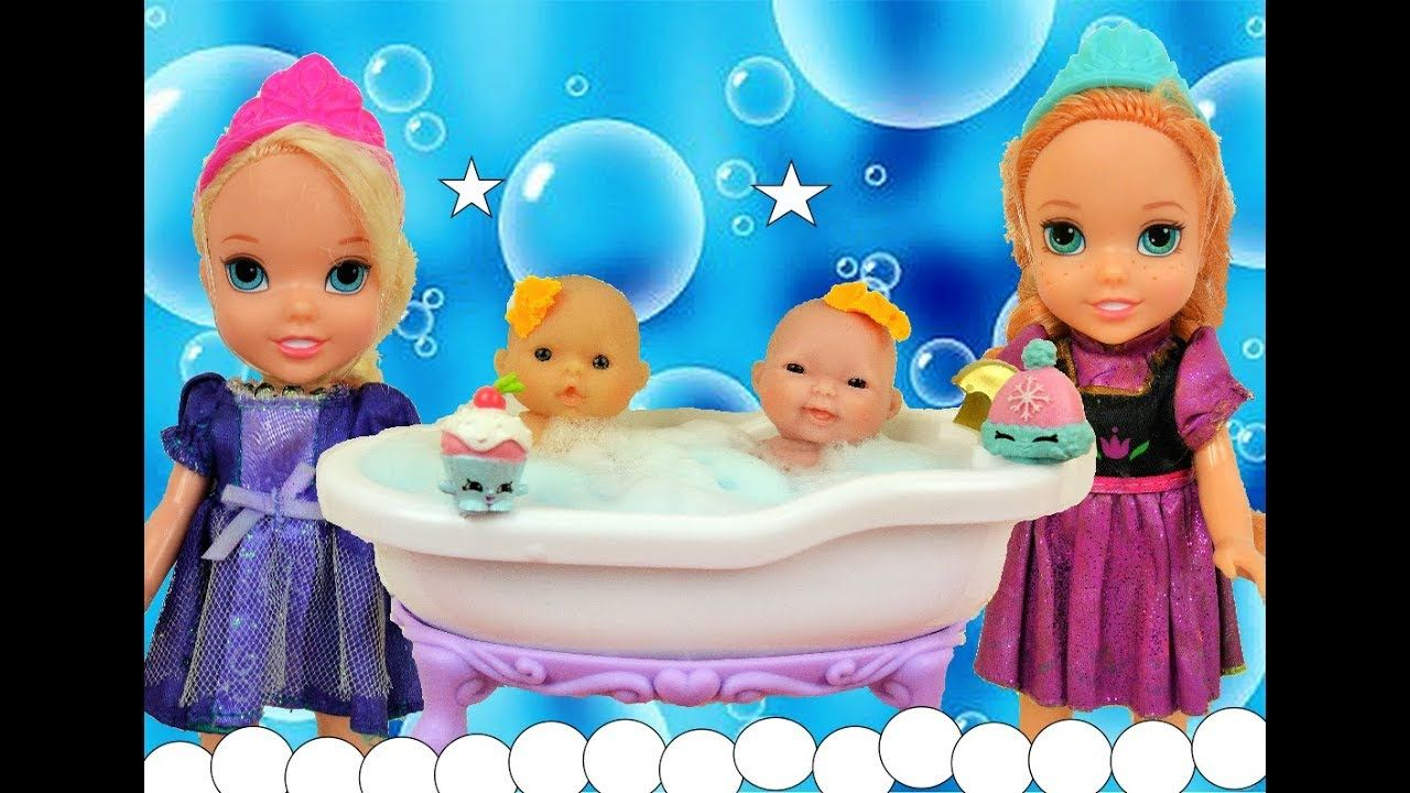 Anna and Elsa Toddlers Babysit Twin Babies - Elsya and Annya ...