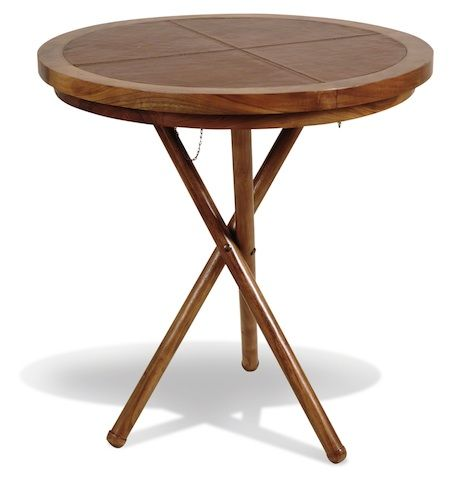Livingstone+Leather+Round+Cafe+Table