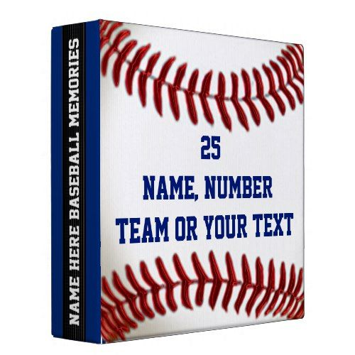 Red, White and Blue Personalized Baseball Binders