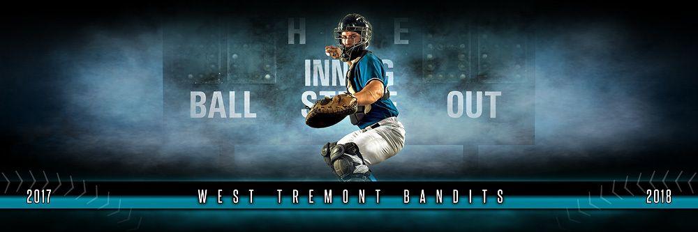 panoramic sports banner template fantasy baseball panoramic