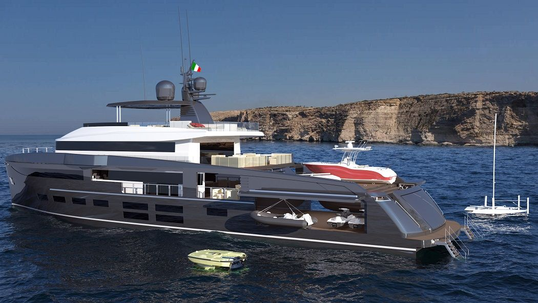 OceaNemo 44 By MC Yachts: Exterior Design Rendering