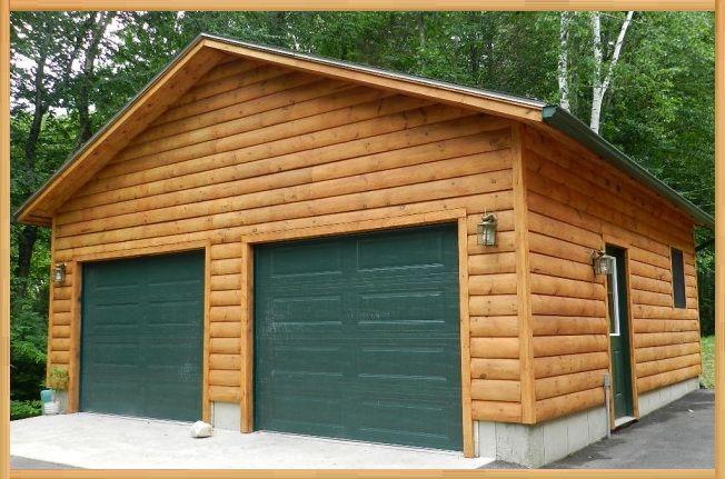 2 Car Garage Garage Packages Log Homes Wooden Garage