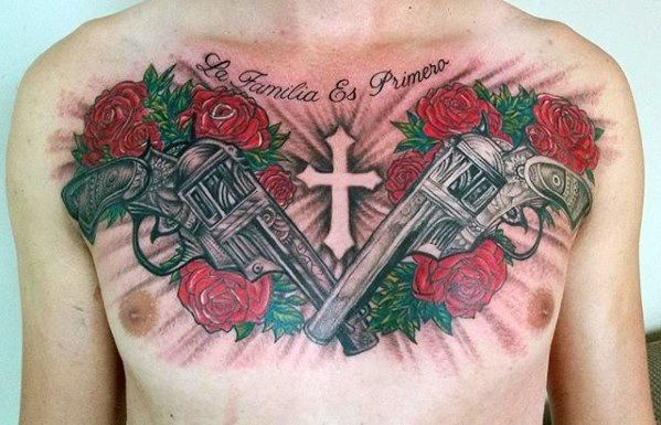 40 Guns And Roses Tattoo Designs For Men Hard Rock Band Ink Ideas Rose Tattoos Tattoo Designs Men Tattoos