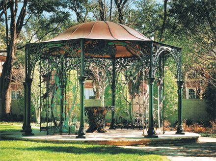 A blog featuring custom ornamental metalwork by Potter Art Metal Studios,  including wrought iron and - Wrought Iron Gazebo Roselawnlutheran