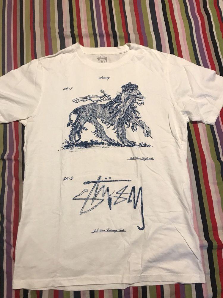 633b57ae Stussy Training Tool Lions White Graphic T-shirt Size medium #fashion # clothing #shoes #accessories #mensclothing #shirts (ebay link)