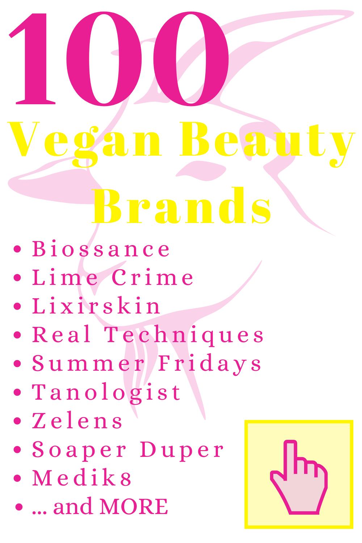 100 Vegan Beauty Brands in 2020 Vegan beauty, Vegan