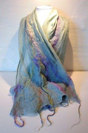 Silk pongé, silk fibres and merino