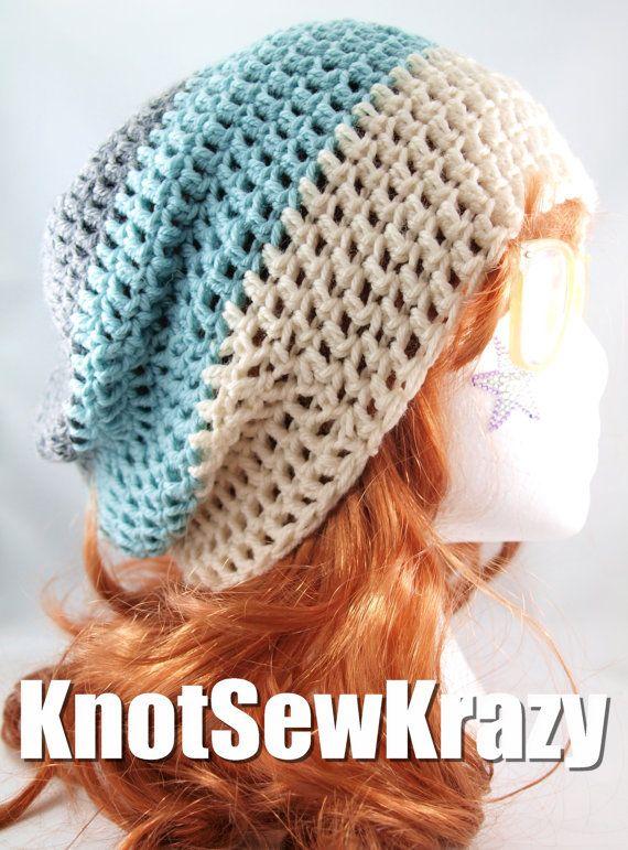 Slouchy Crochet Beanie | Crafts | Pinterest | Stricken und Häkeln