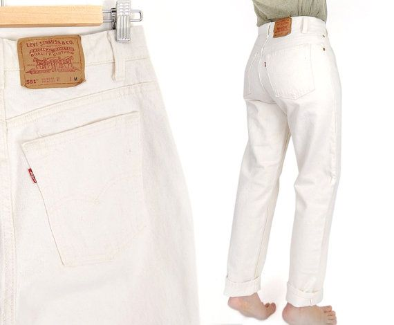 High waisted mom jeans white