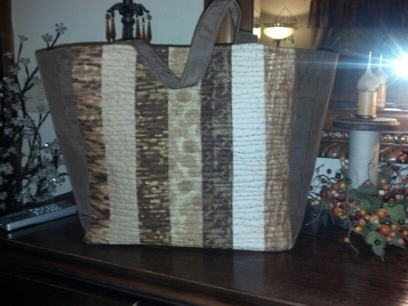 Quilted jelly roll strips fabric handbag. Vertical stripes. Bag ... : fabric quilted handbags - Adamdwight.com