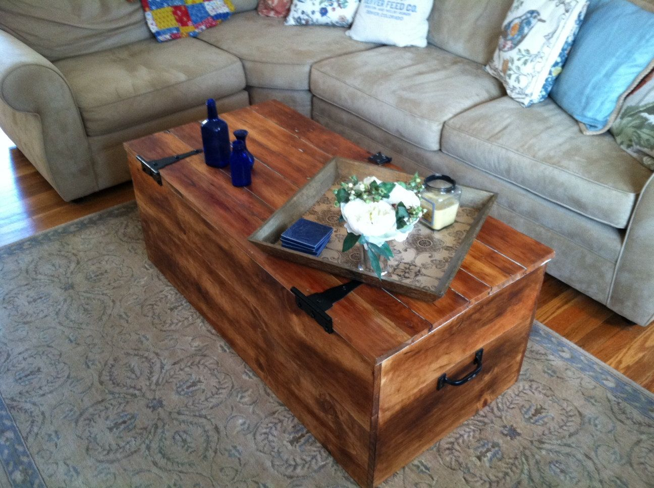 Wine Crate Coffee Table |Wooden Crate Coffee Table