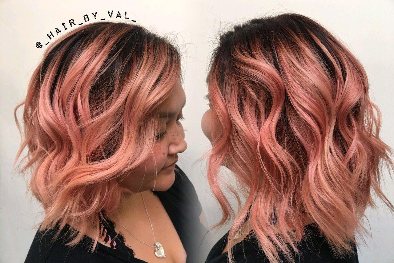 Rose Gold Hair Rose Gold Balayage Balayage Hair Pulp Riot