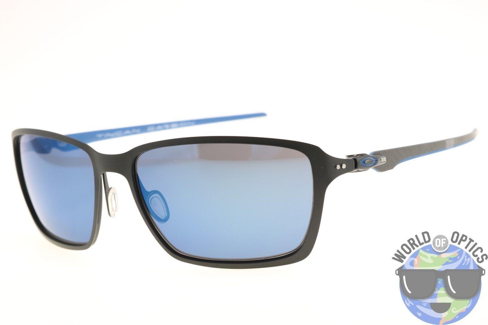 b50fb5df61a50 Oakley Tincan Carbon Sunglasses OO6017-04 Matte Black w  Ice Iridium Lenses