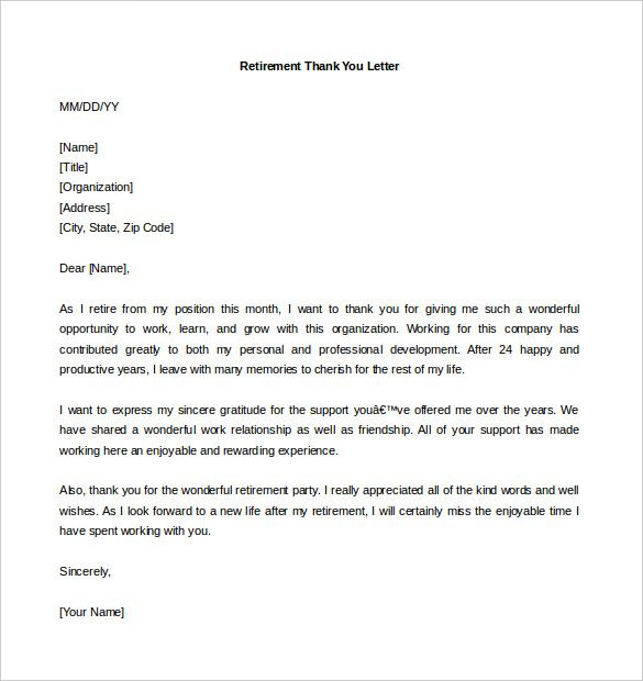 retirement letter template free word pdf documents download boss - letter of support sample