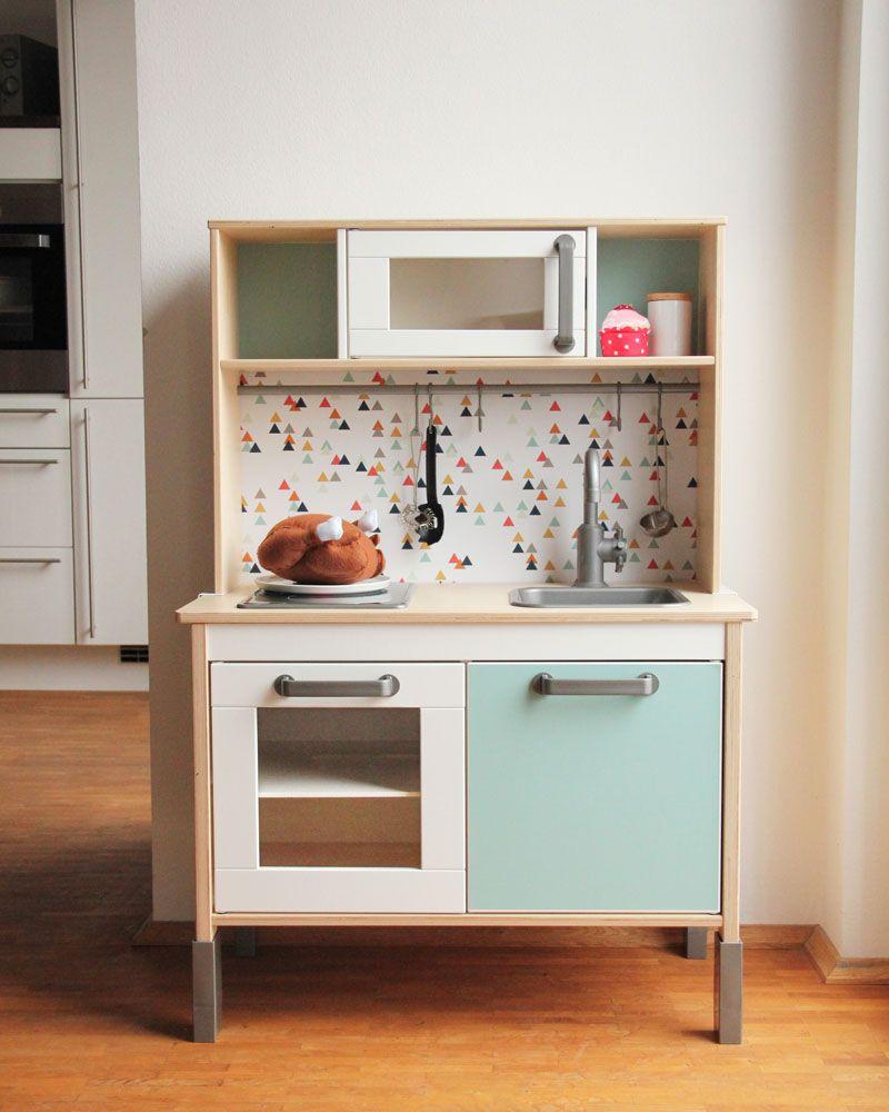 Ikea kinderküche gepimpt  Fertig ist die gepimpte IKEA Kinderküche gebraucht, www.limmaland ...