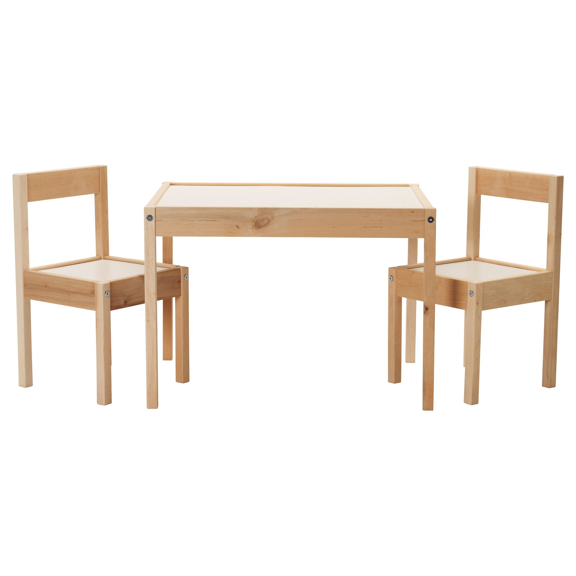 L Tt Children S Table And 2 Chairs White Pine Mesa Para Ni Os  # Muebles Roles Mesillas