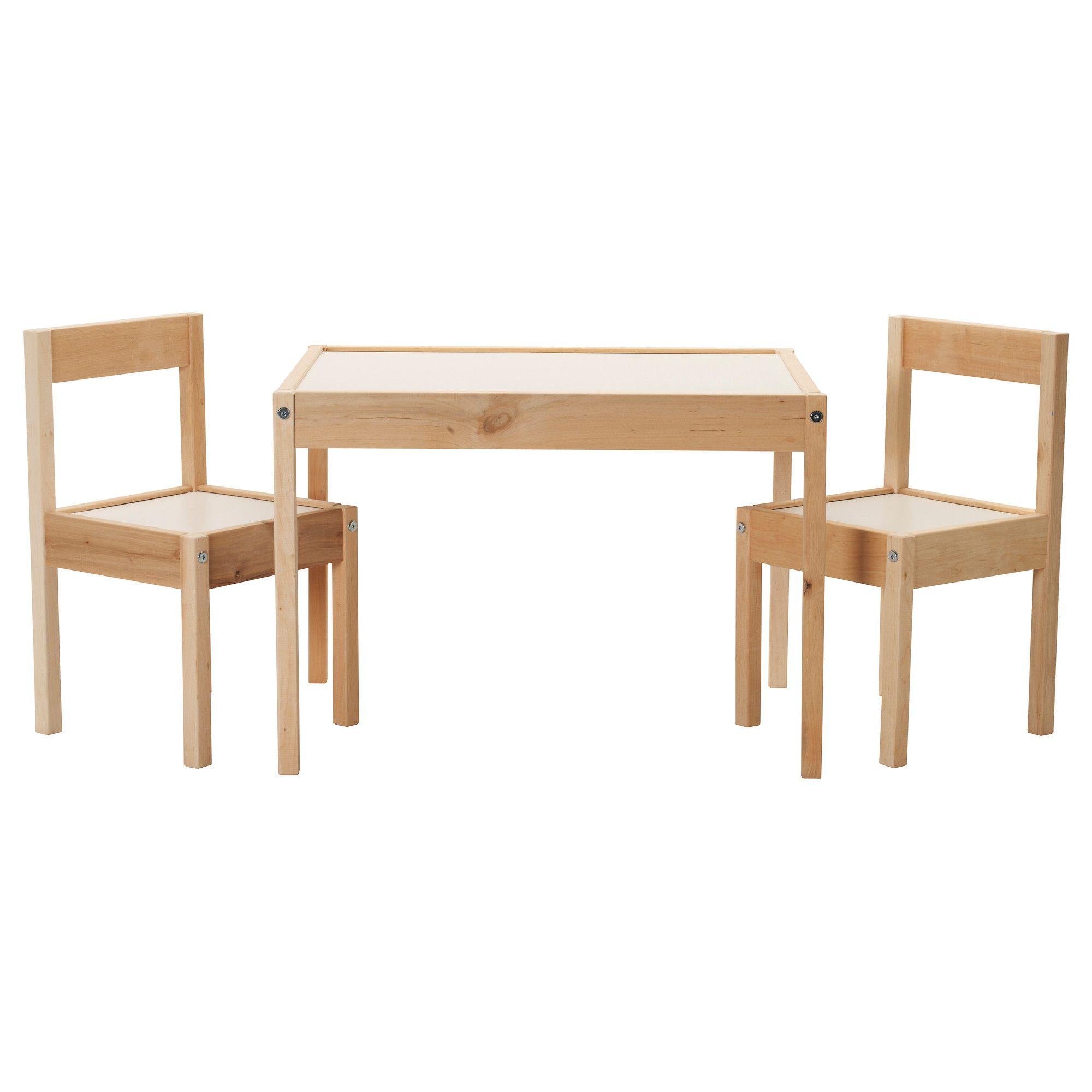 LÄTT Tavolo per bambini con 2 sedie - bianco, pino | Ikea ...