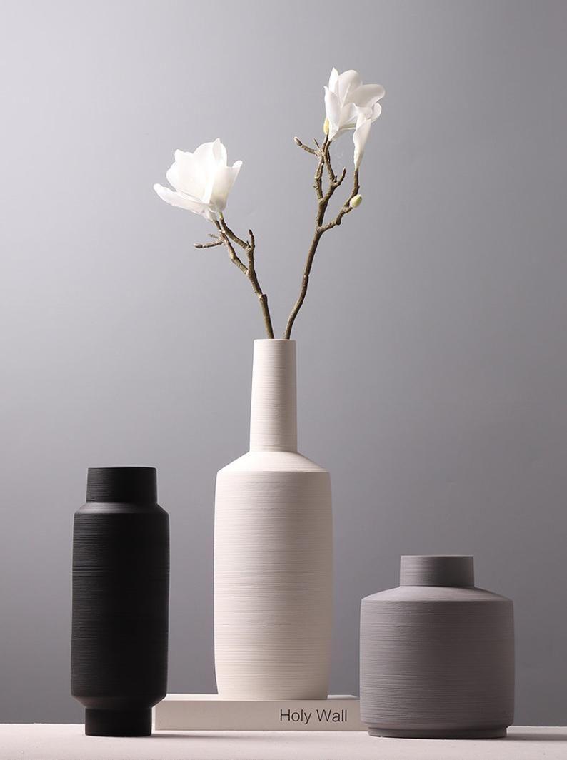 semicircle modern vase  Handmade Ceramic Vase  Minimalist Decor ModernAir Plant PotFlower vaseGiftLiving Room decor