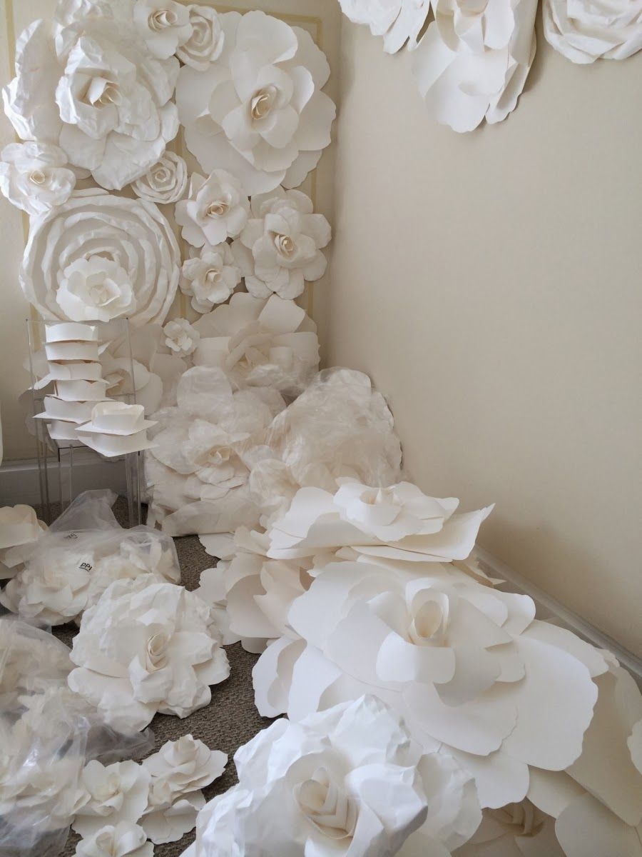 Huge Paper Roses Flowers Are Blooming At Fanciful Designs