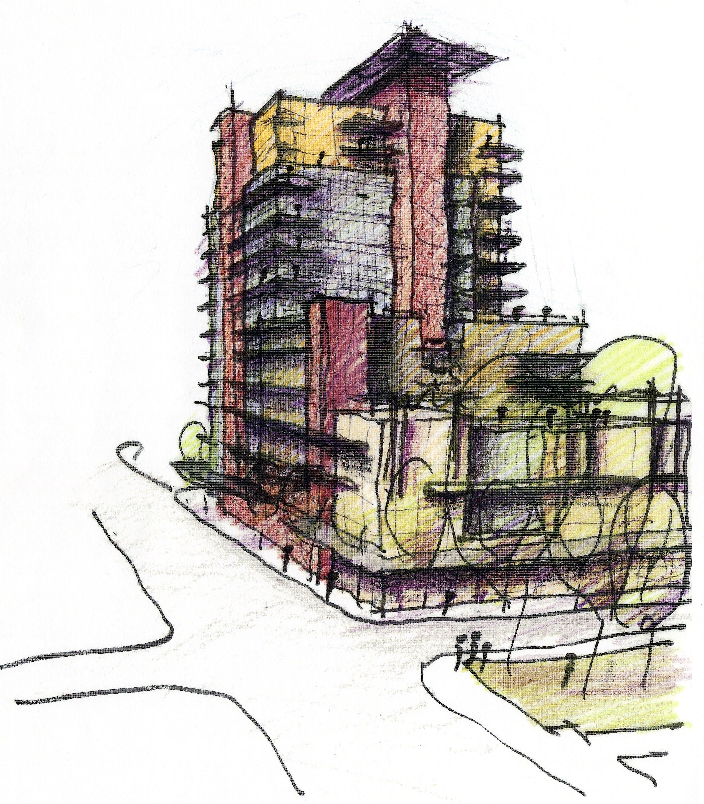 Mixed-use High Rise Concept Sketch No. 3 | Architecture | Pinterest | Architecture And Arch
