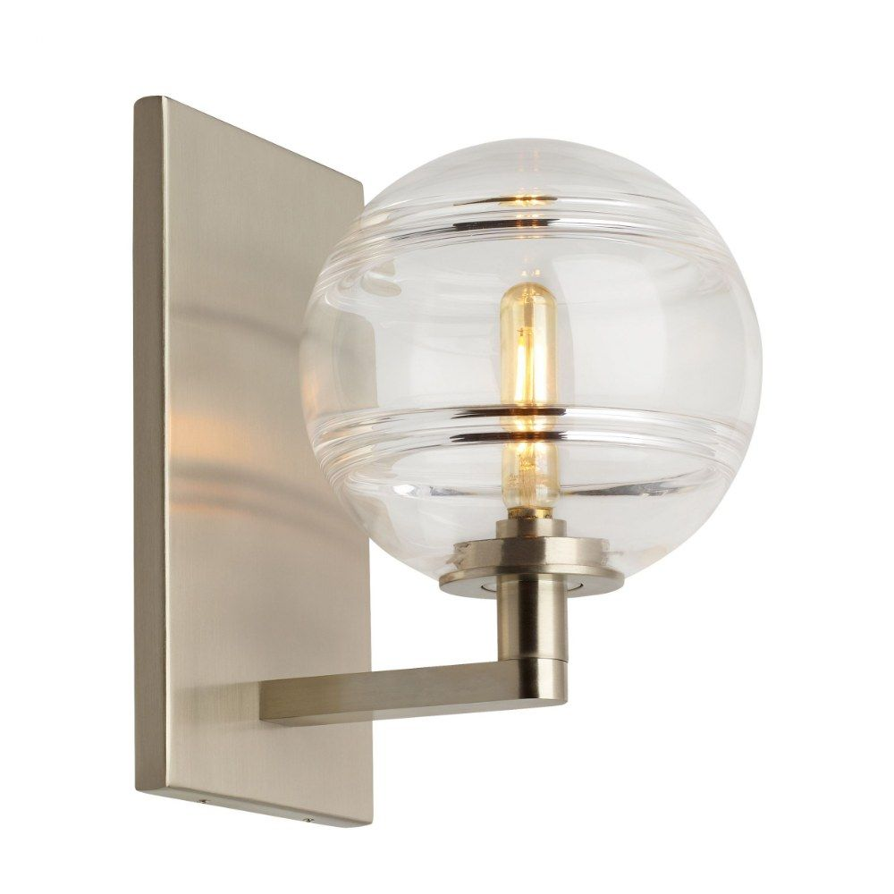 Sedona Led Wall Sconce Led 90 Cri 2700k 120v Satin Nickel Finish With Clear Glass In 2020 Led Wall Lights Tech Lighting High Ceiling Lighting