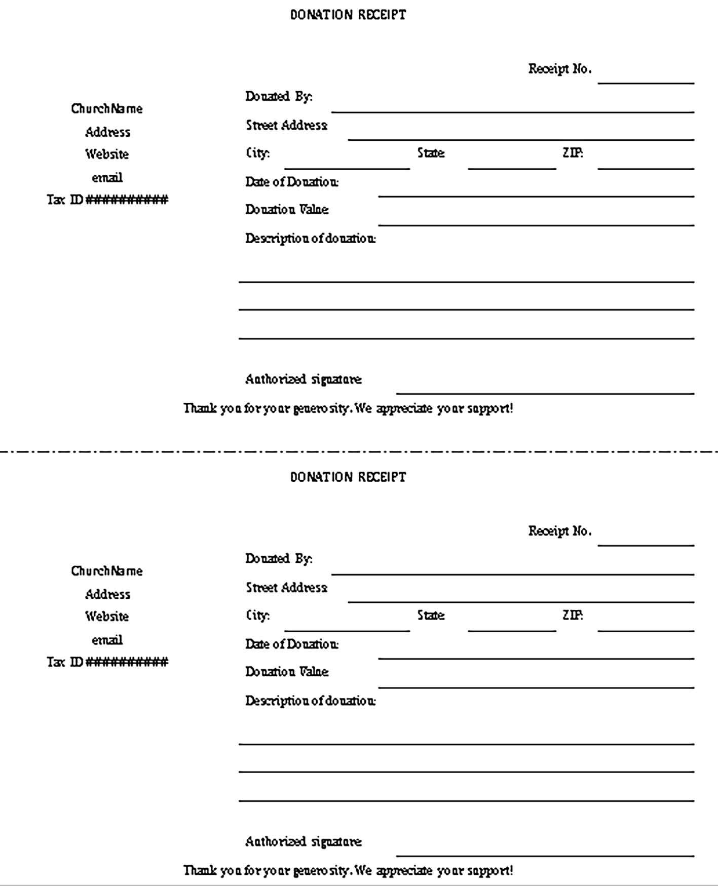 Donation Receipt Template Sample Receipt Template Donation Form Non Profit Donations Donation receipts for tax purposes