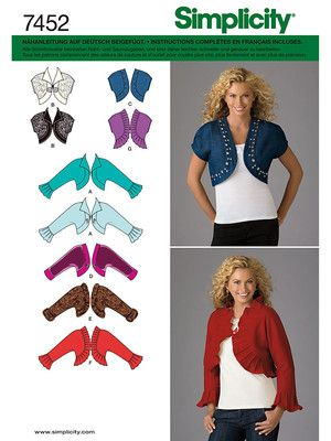 Simplicity 7452 8,75€ | Patterns for Sewing with Merino Fabric ...