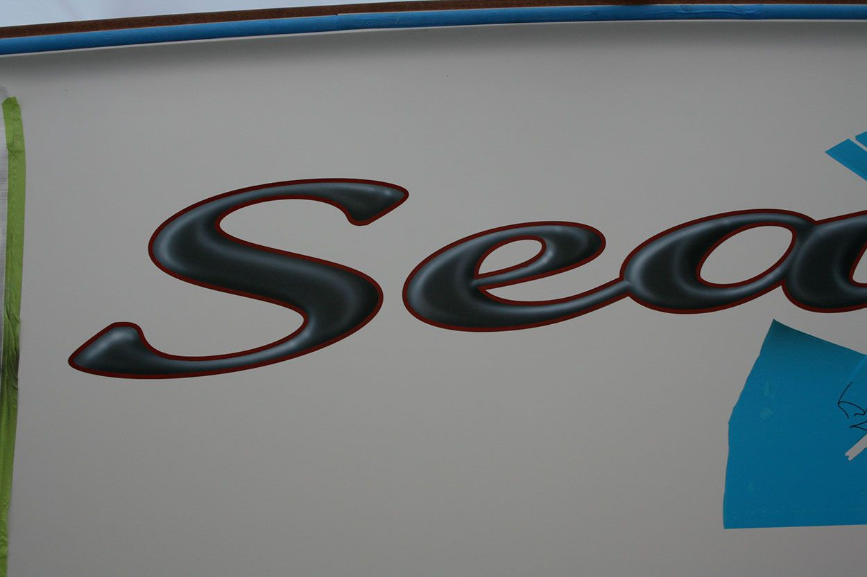 #TRANSOM: Sea Ghost, PP #Boat #Transom #BoatTransom  TRANSOM #TECHNIQUE: #CustomGraphics    #BOAT #BUILDER #BoatBuilder: #SpencerYachts , #NorthCarolina
