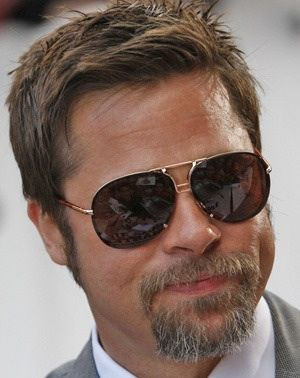 e9e550e854 Brad Pitt wearing Tom Ford Pablo sunglasses