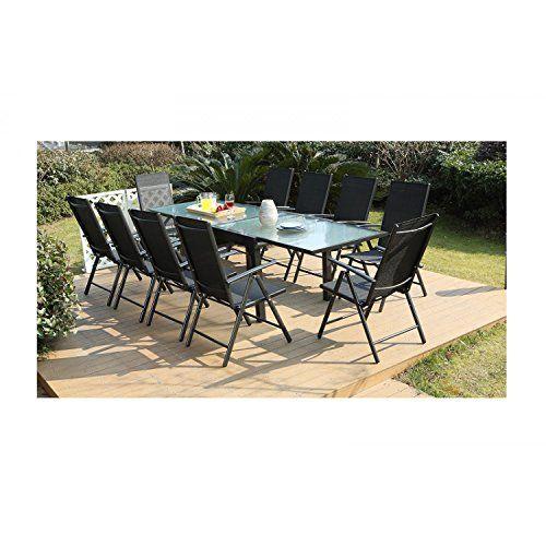 Mon Usine Le Velia Salon De Jardin En Aluminium 10 Personnes Salon De Jardin Mobilier Jardin Terrasse