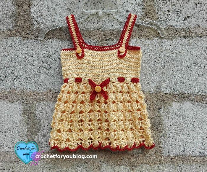 Honey Bliss Baby Sundress Free Crochet Pattern